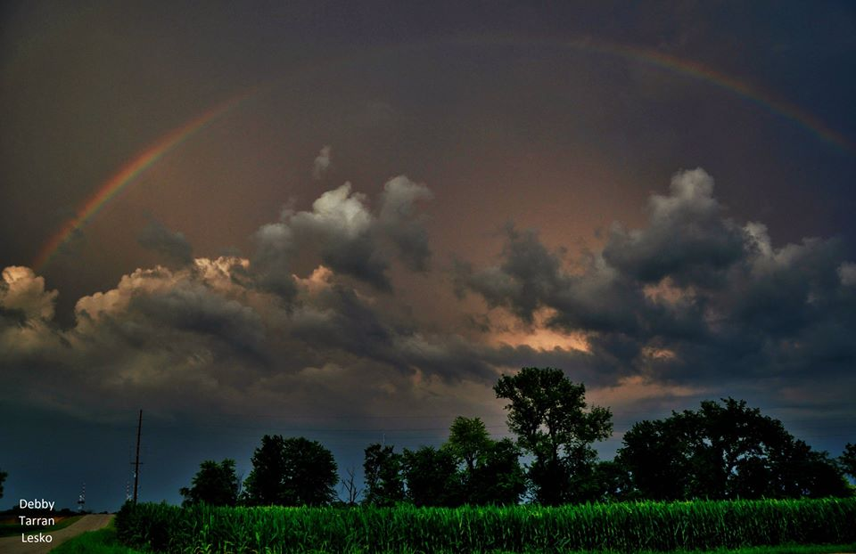 After the storms and flooding in Illinois a rainbow.