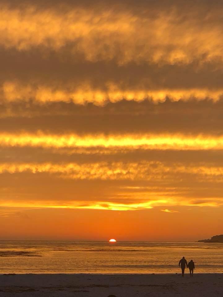 Monterey Beach, CA this evening. Stunning.