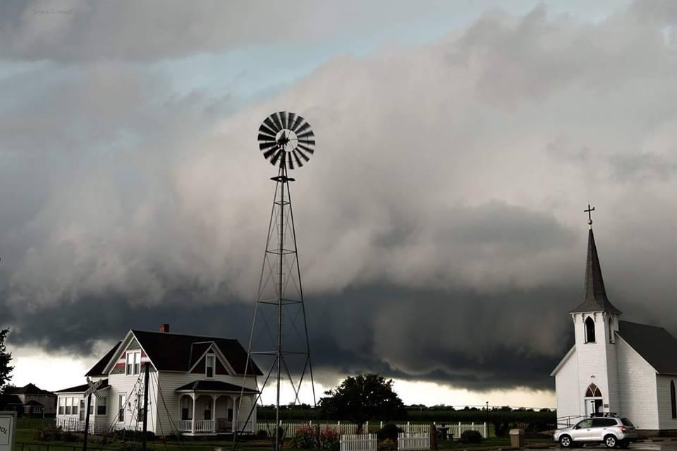 Better shot of last Saturday's storm at the Prairie Museum in Holdrege, Nebraska.