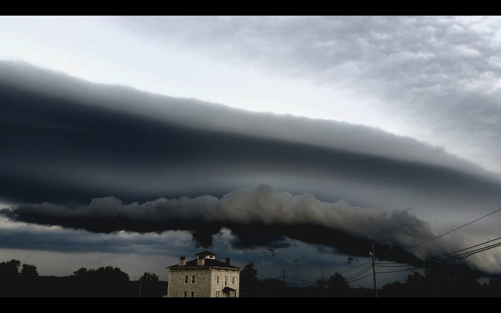 "The sky took a ""shelfie""! Corny...I know...— in Pevely, Missouri ."
