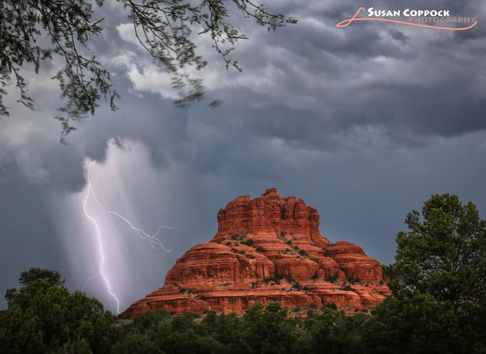 Bucket list time- got to capture lightning in Sedona! Here is Bell Rock. Taken a week ago today.