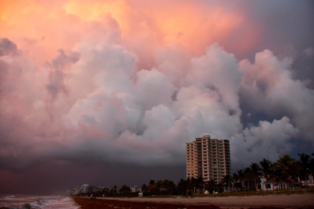 Surrounded By Storms at Dawn  Fort Lauderdale Beach  08/30/2018