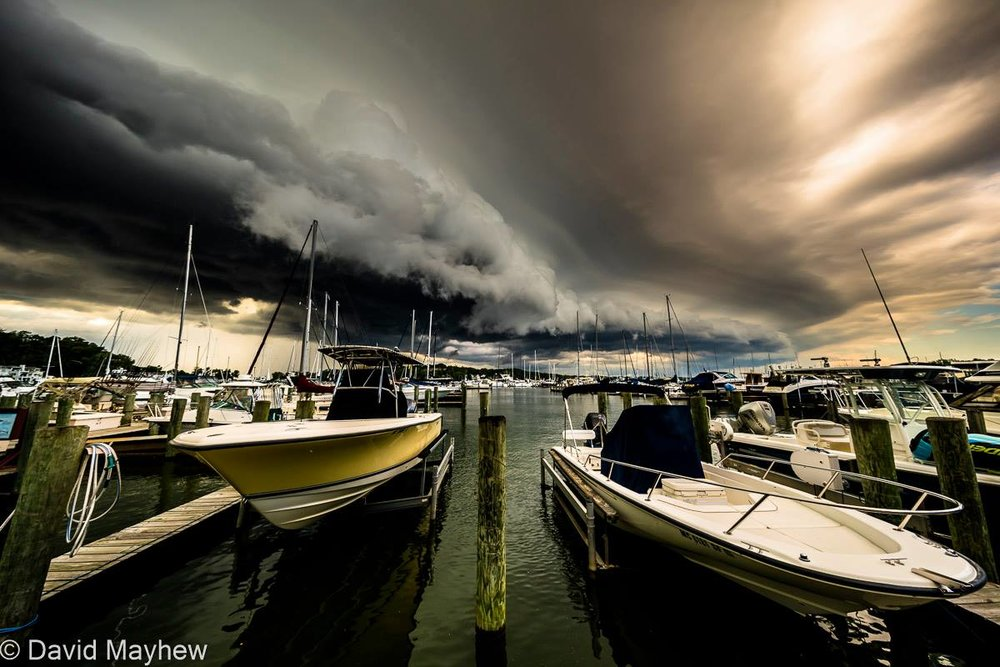 A cold front crossed Lake Michigan this afternoon, pictured here at the Harbor in Holland Michigan