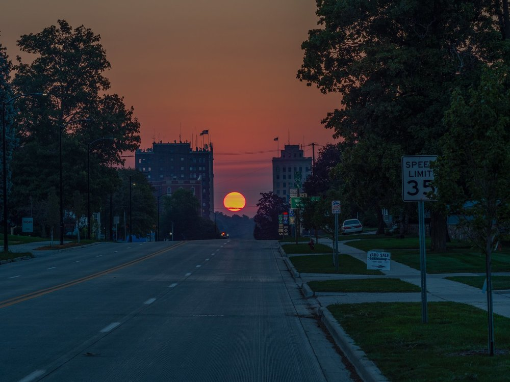 Sunrise in downtown Jackson, Michigan 9/21/2018