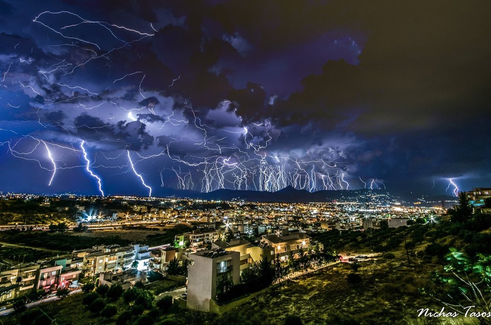 12/09/2018 Night Storm Heraklion , Crete , Greece