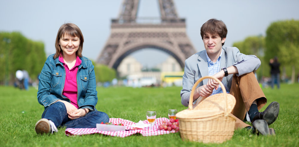 You don't have to be a 1990s Soviet time-traveler to love a good picnic - LOL stock photos amirite?