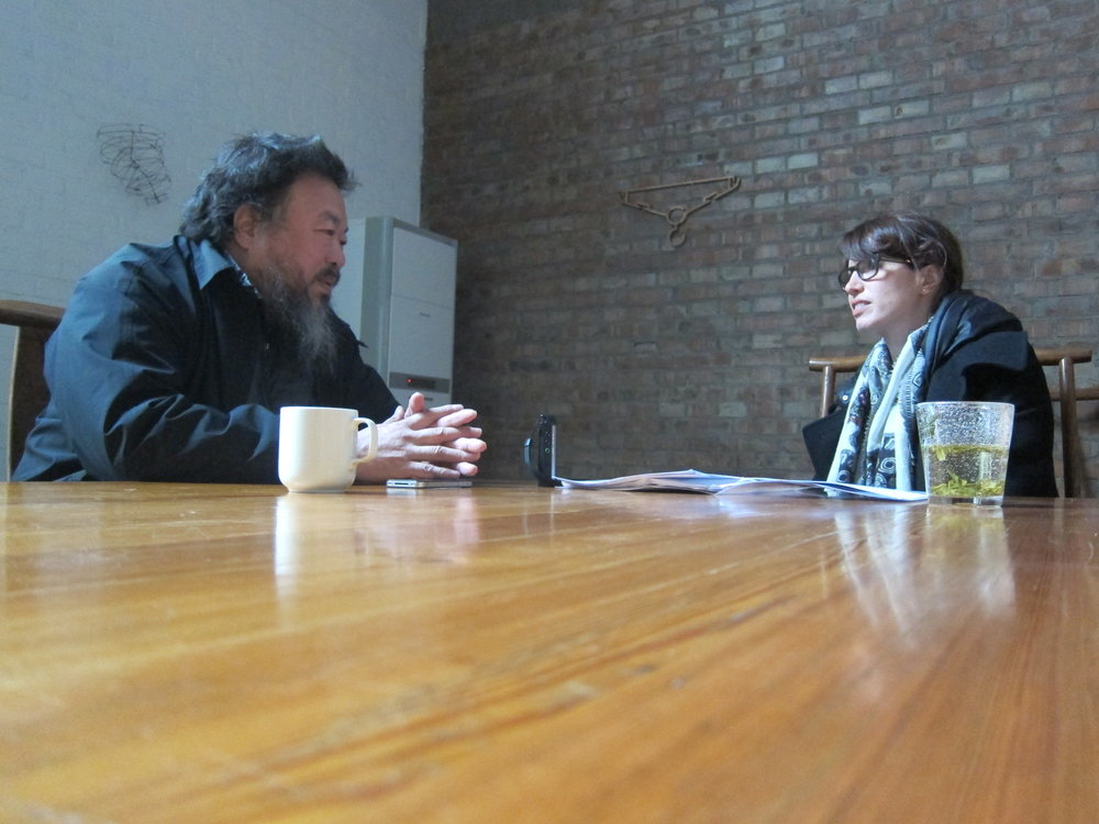Meeting with Ai Weiwei in Beijing for Creative Time Reports and The Guardian