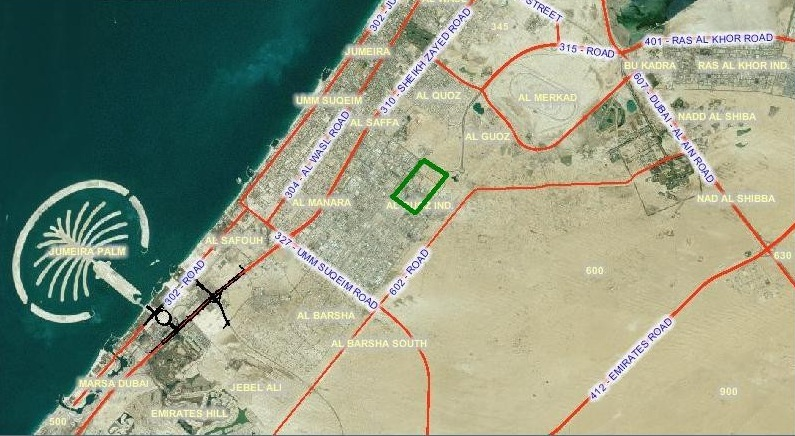Al Quoz District in Dubai