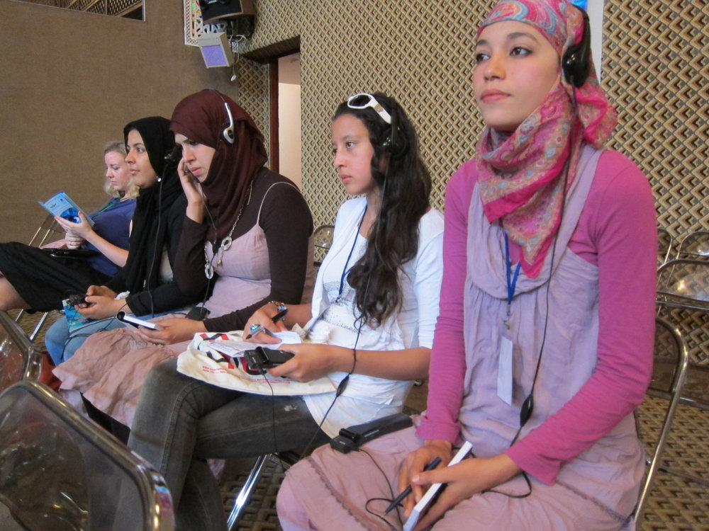 My students at a conference in Fes focusing on women in the MENA region