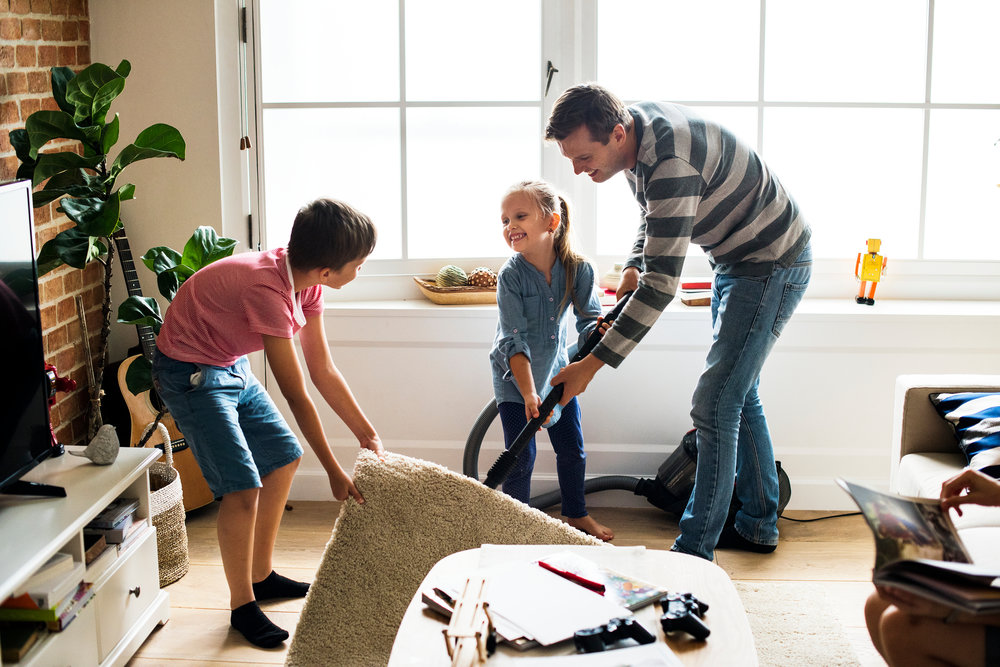 Cleaning Your House With Kids
