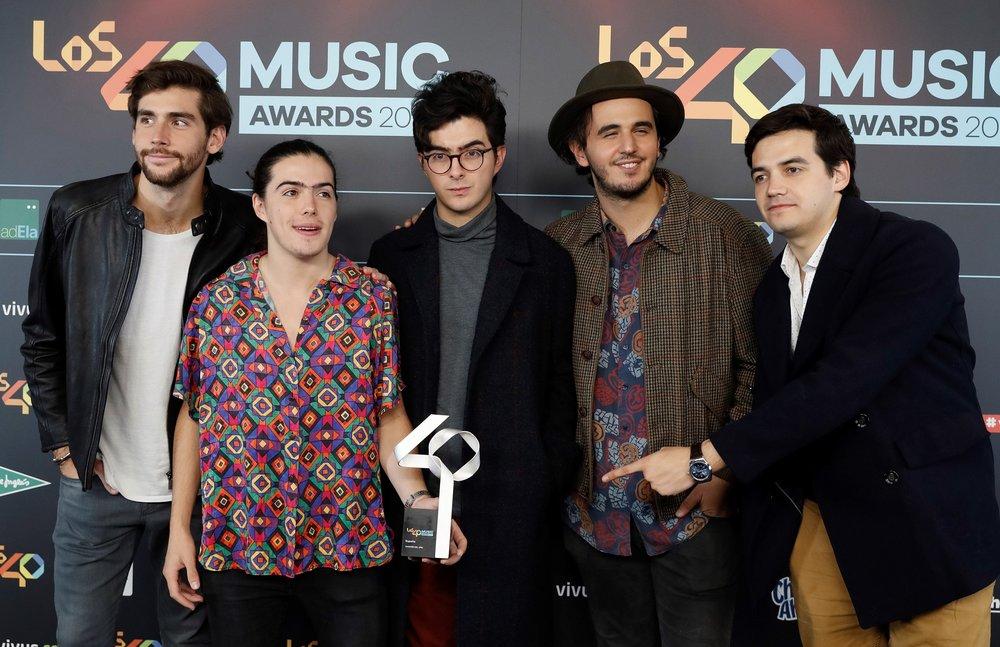 Junto con el cantante Álvaro Soler, Morat se llevó el Premio a Mejor Canción Nacional