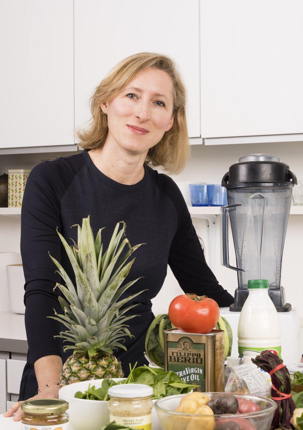 Imagen en la cocina de la nutricionista y mediática Jeannette Hyde. Foto cedida por Jeannette Hyde