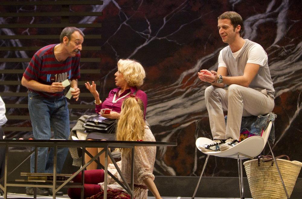 Imagen de la representación teatral. Que trata sobre el trastorno obsesivo compulsivo de algunas personas. Toni Garriga