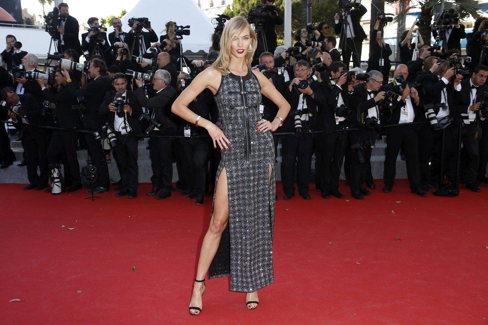 La modelo estadounidense Karlie Kloss; durante la 68ª edición del Festival de Cine de Cannes, en Cannes, Francia, EFE/EPA/GUILLAUME HORCAJUELO