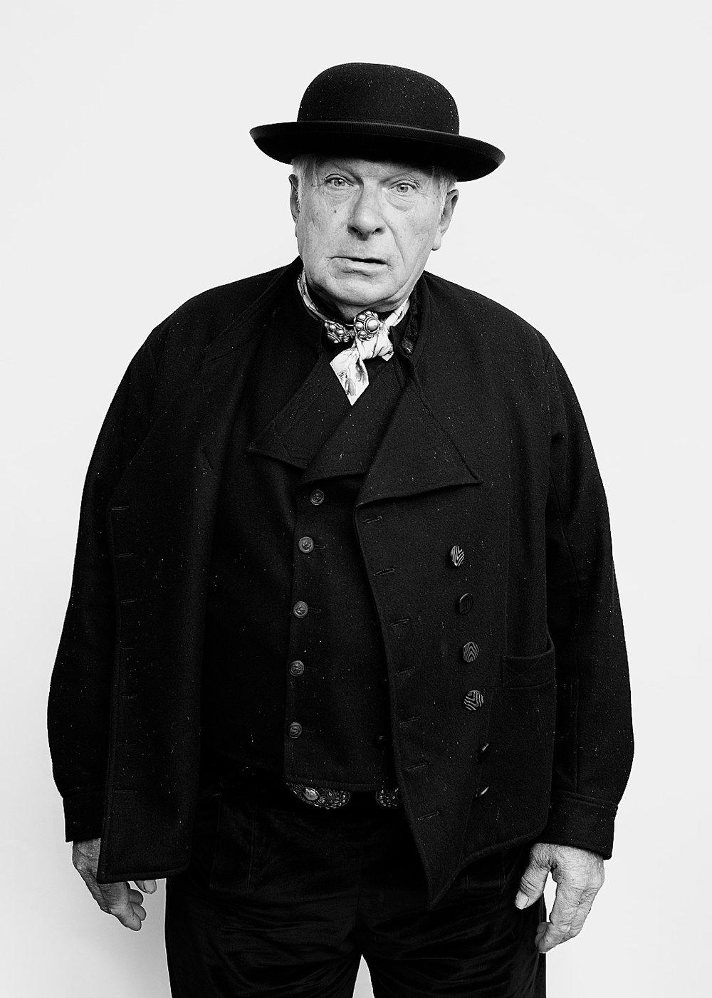 Fotografie Portret 'Zeeuwen op Wit' serie in Zeeland.