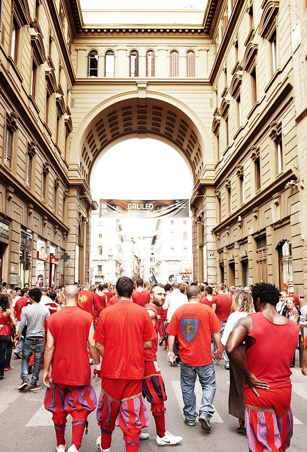 Fotografie reportage van Calcio Storico in Florence