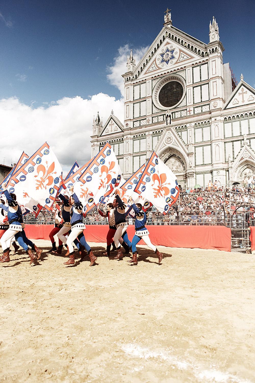 Opkomst tijdens Calcio Storico Florence