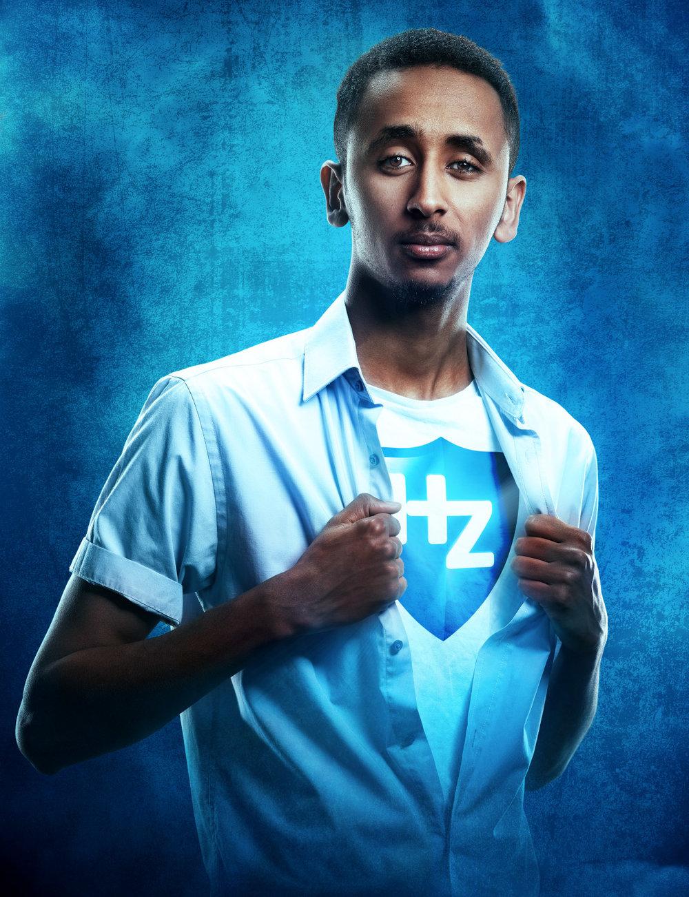 Copy of Voorbeeld Chromakey shot voor 'Discover your power with HZ' campagne