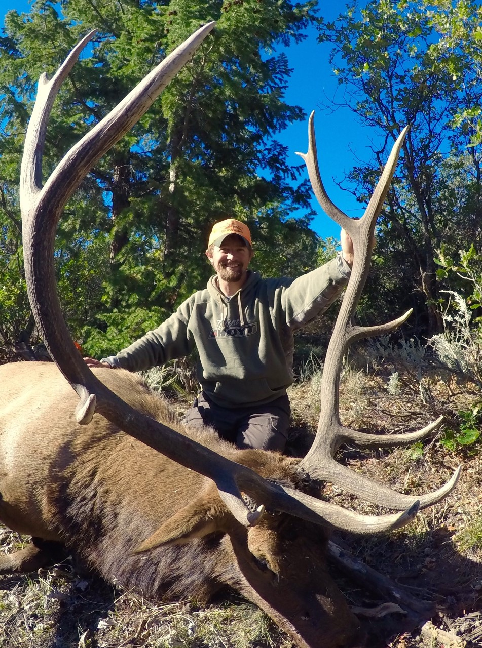 Nick D and his trophy Bull elk with Bull Basin Outfitters.jpg