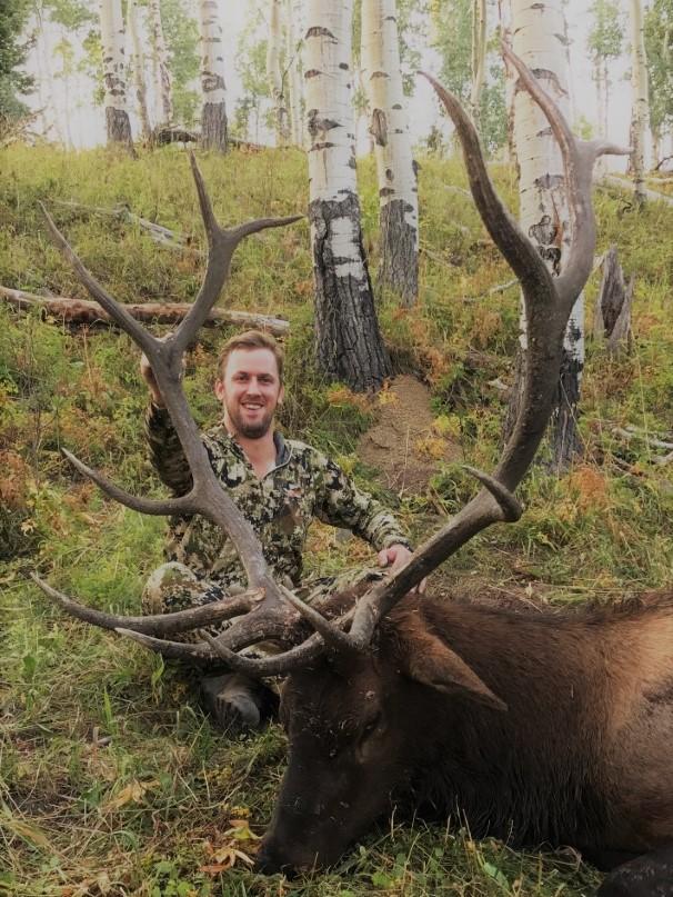 shawn scmidt trophy bull elk with Bull Basin.jpg