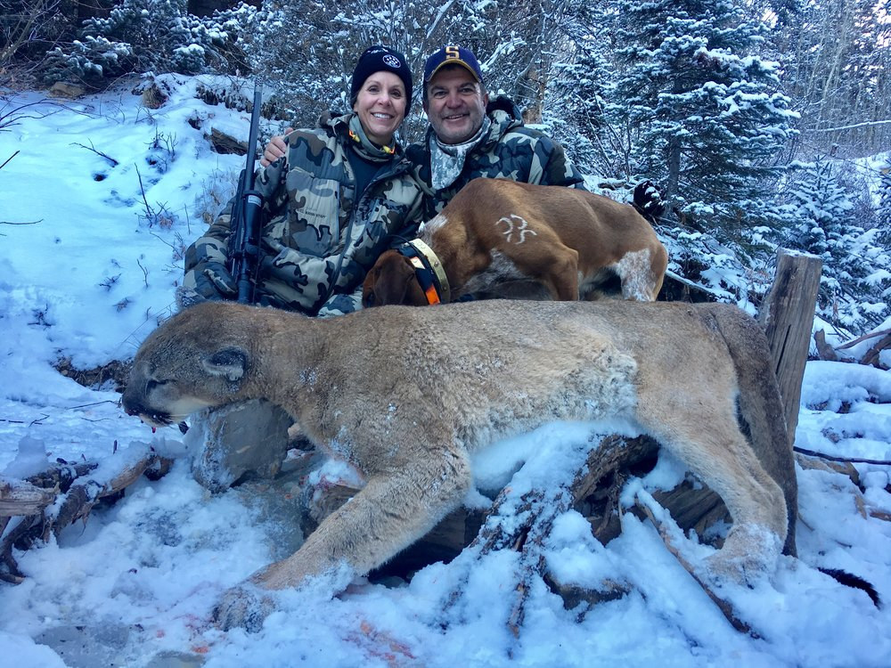 Susan and Dean with her Colorado mountain lion.jpg