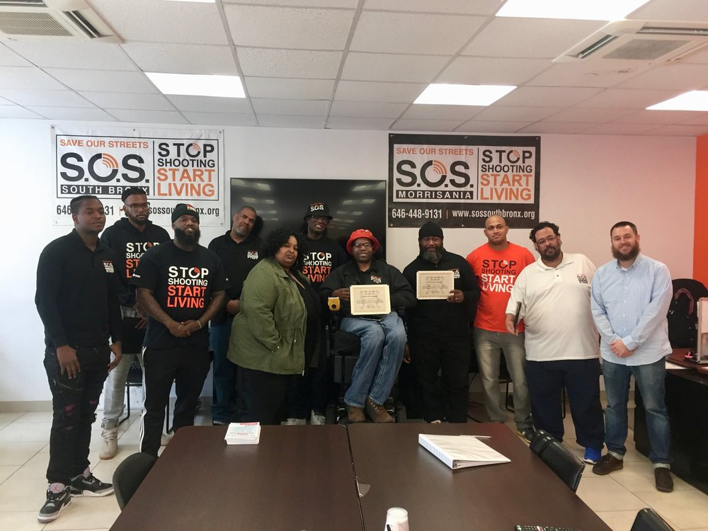 S.O.S. Bronx staff after a training.