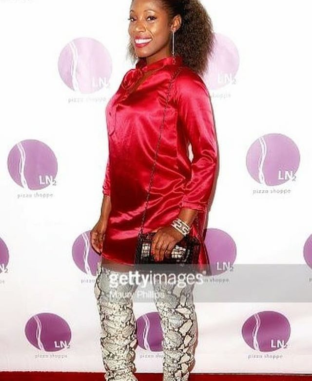 Ending the week right with actress/producer, @teamtysha in our Rose' Satin Shift Dress. How do you style yours?! Tag us in your photos!!💃💃💃 . . #Friyay #Friday #gettyimages #redcarpet #Hollywood #dresses #formal #awards #actress #producer #clients #proud #tv #golden #LA #dresses #designers #melanin #keeppushing #US #LA #fashiondesigner #international #film #reality #tv #entertainment #manifest #werk #challenge