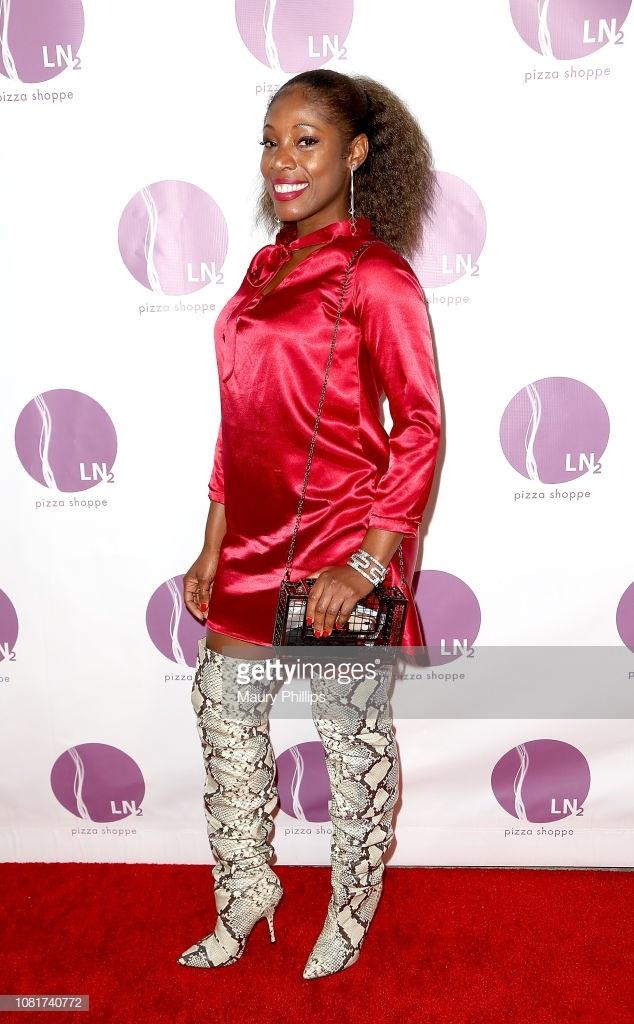 Actress/Producer, Tysha Williams wearing Ngozika Okeke