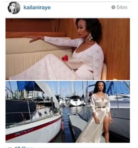 Draya Michelle wearing custom Ngozika Okeke (bottom)