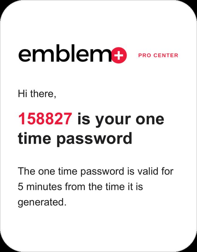 Emblem Pro Center Password Email