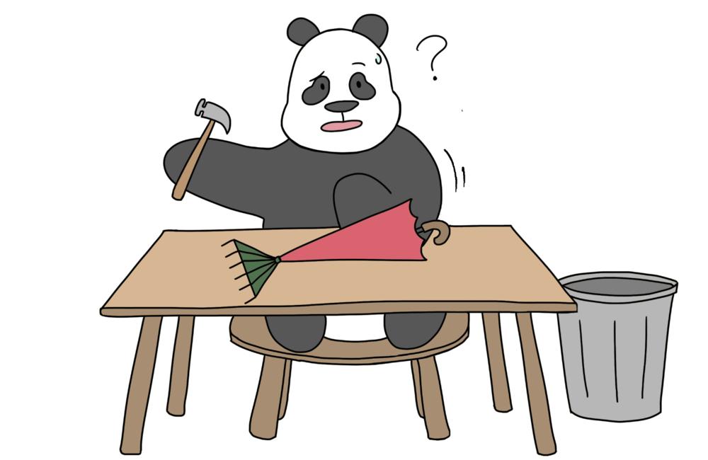 panda looks up