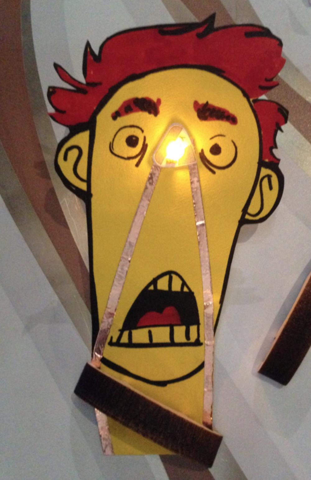 scared LED face