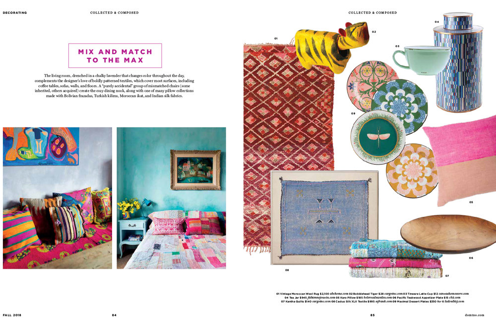 DominoMagazine - Fall 2018Featuring Cargo's Kantha Quiltsand Japanese Bobblehead's