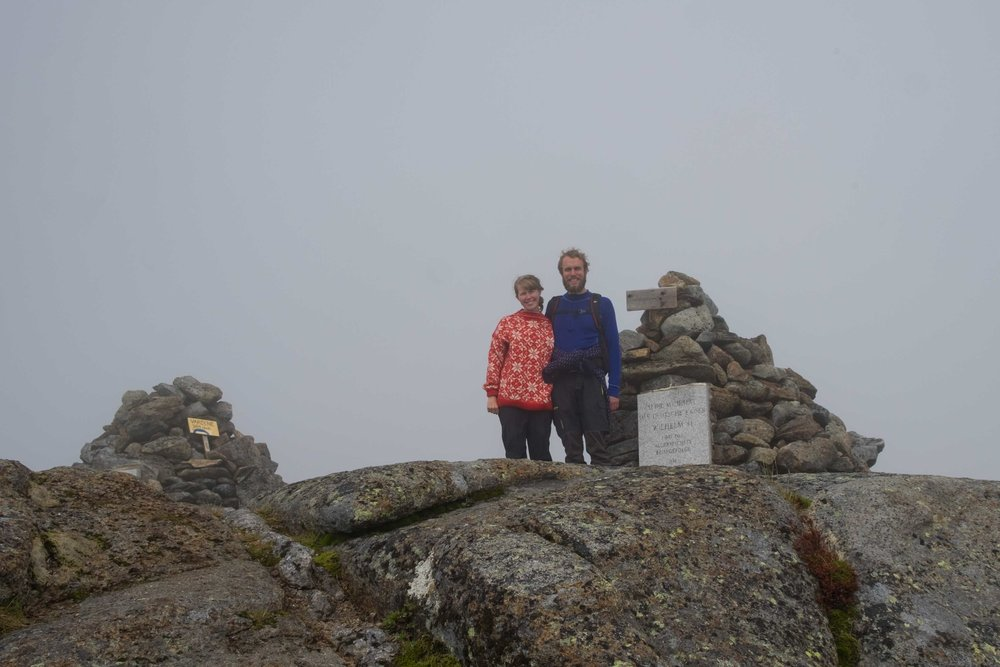 We had a nice panoramic fog view at the top of Keiservarden