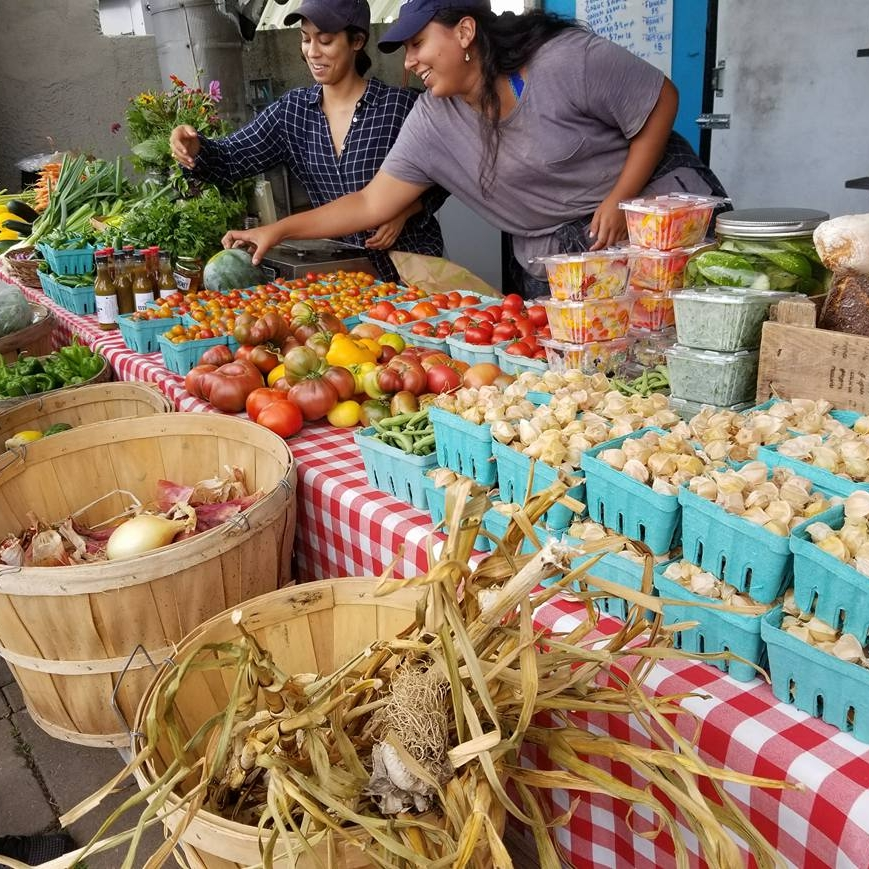 Brooklyn Grange farm stand.Long Island City, Queens. photo credit: Crystal Rivera