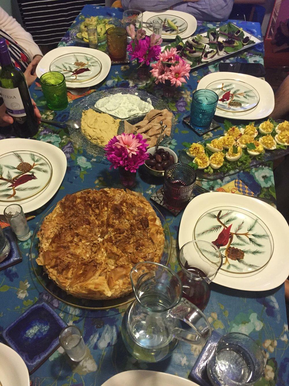 Figure 2b.  The daughter's [Armenian] Christmas dinner table.
