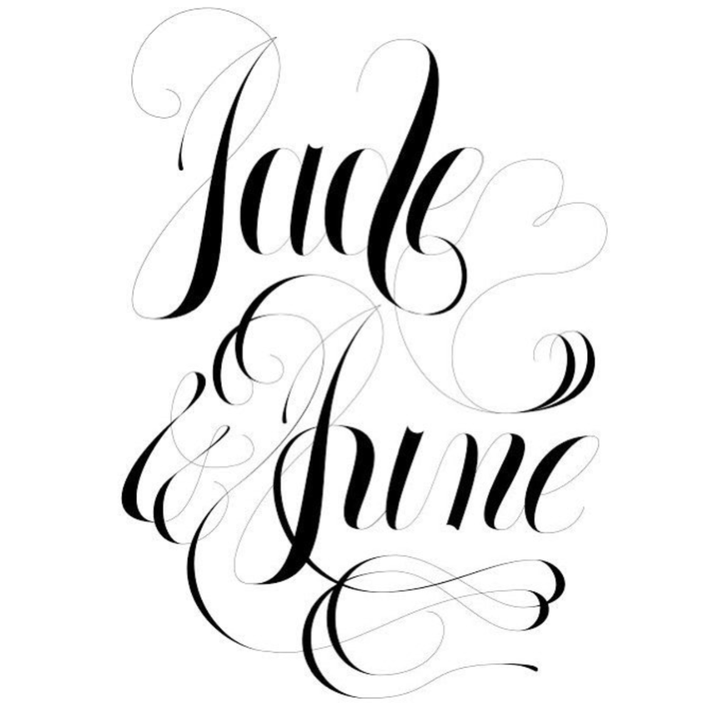 Jade and June Lettering - Personal Project