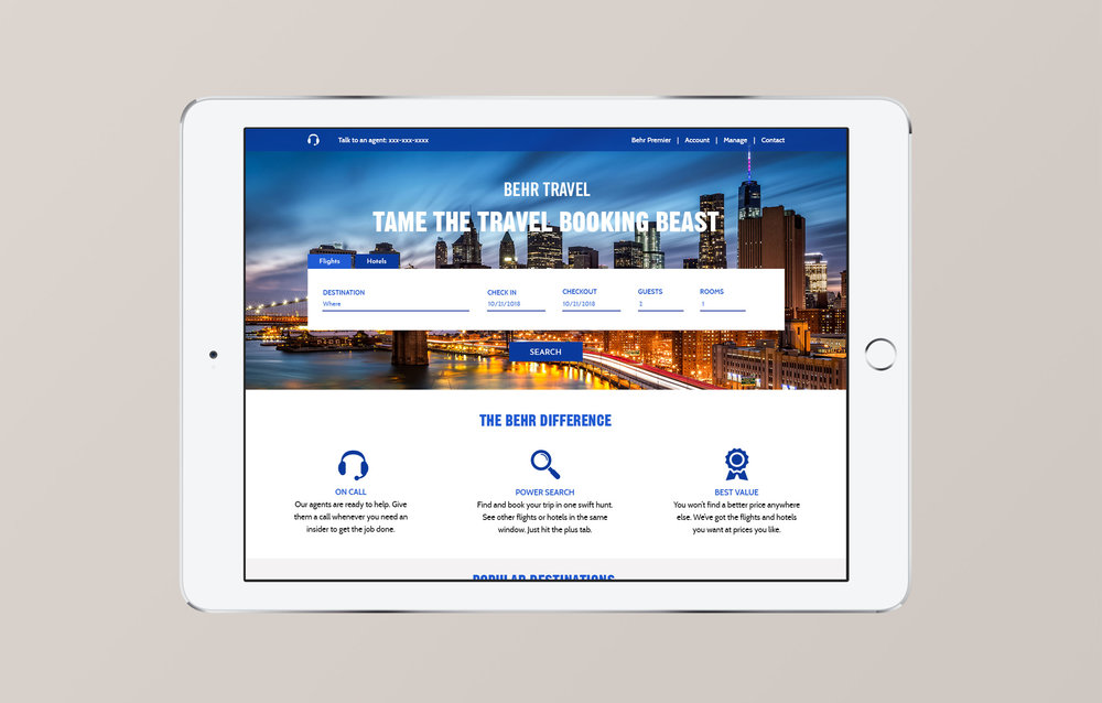 Hotels Landing Page