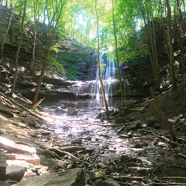 Day 5: Hamilton - Dundas. Fortunately a slightly shorter day for us than the last few, but we battled the heat all day through Hamilton. Check out our latest blog post for more details! . . . #brucetrail #hiking #walk #ontario #toronto  #getoutside #optoutside #neverstopexploring #exploreontario #adventure #niagaraescarpment #hikingontario #nature #endtoend #trailraisers #fundraiser
