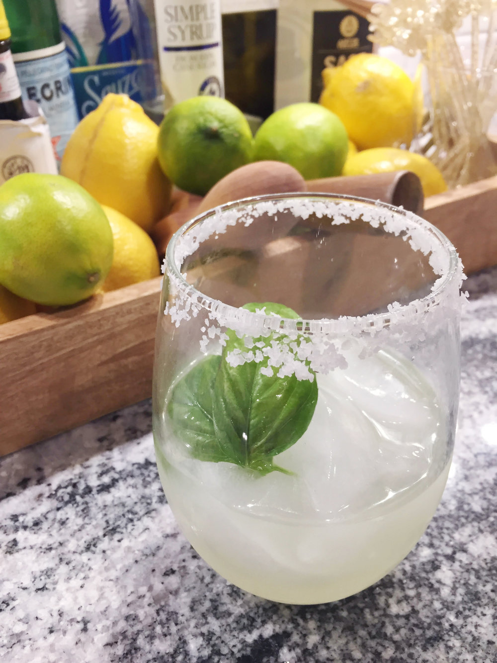 The Spirited Sprout's Easy Basil Margarita