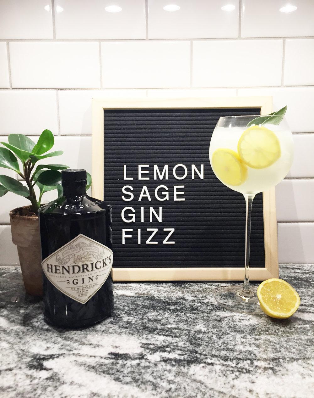Lemon Sage Gin Fizz