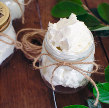 DIY essential oil whipped body butter