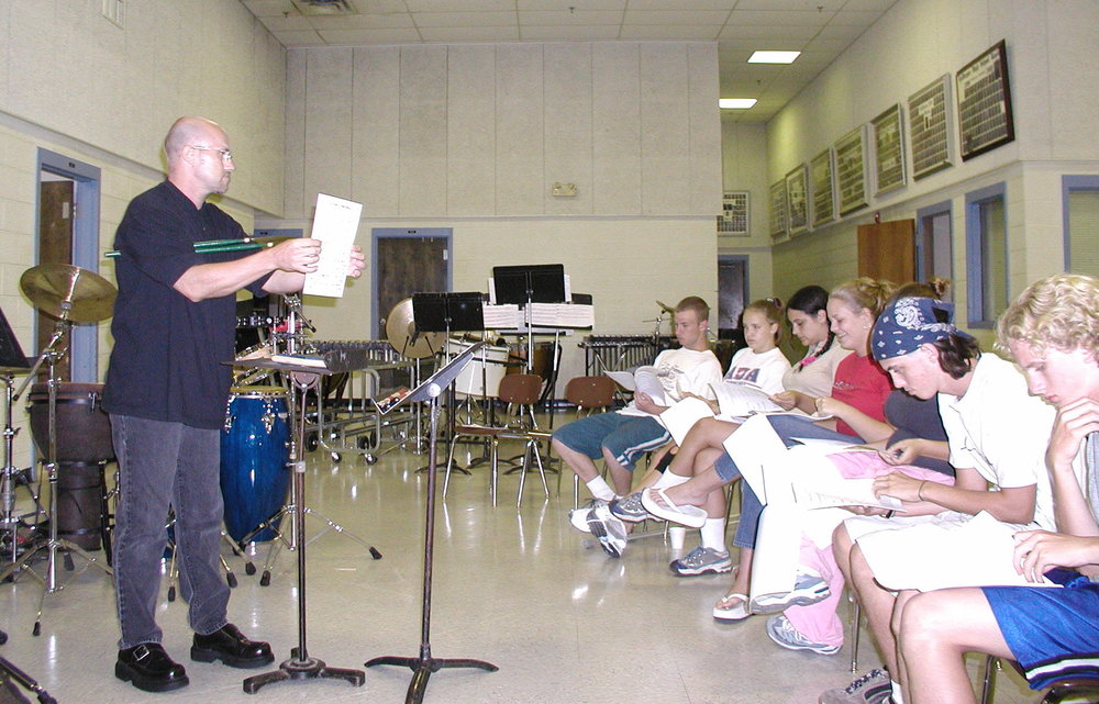 Clinic at LaVergne HS, 2002