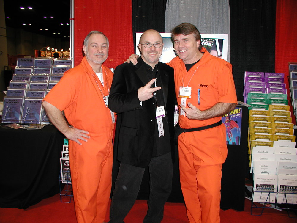 Edward with Crock and Brooks of RowLoff Productions, 2007