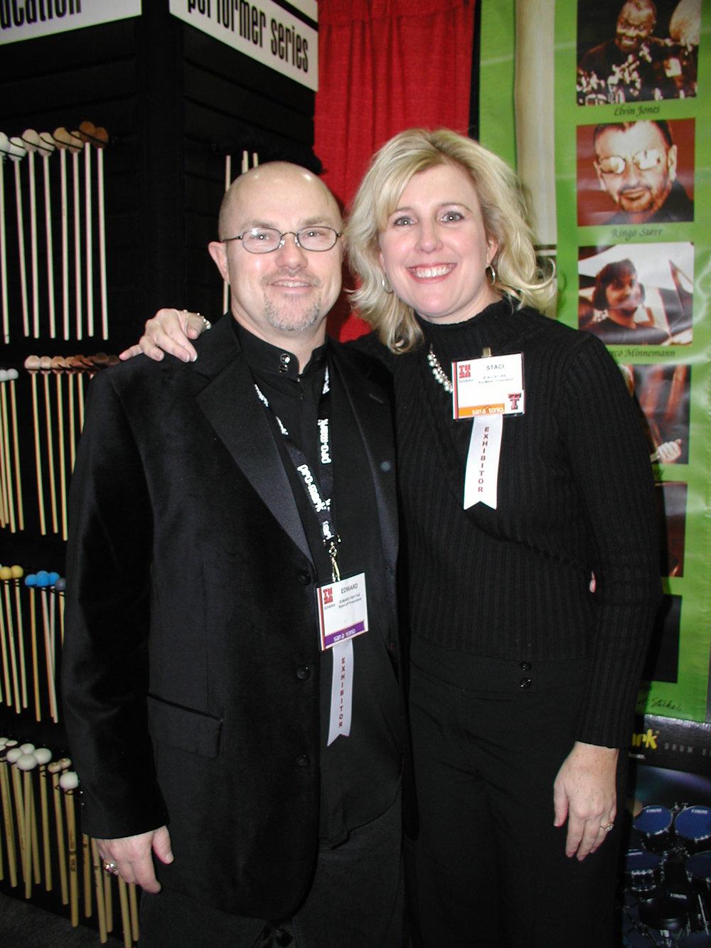 Edward with Staci Stokes Waites, 2007