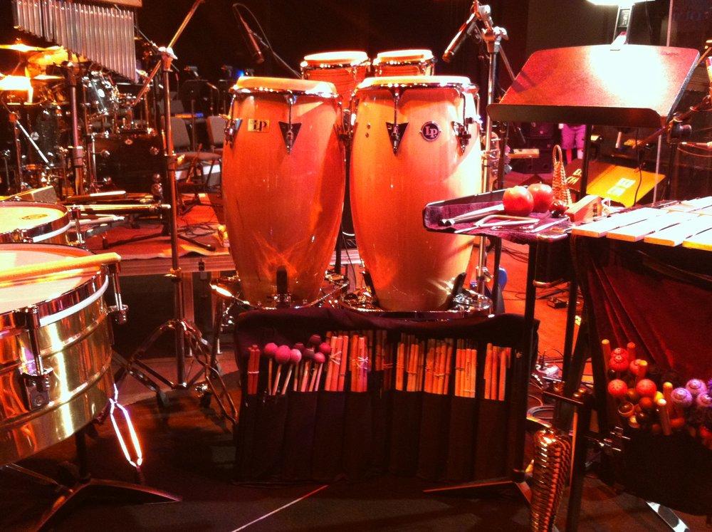 Setup for Aretha's Kentucky show, 2012