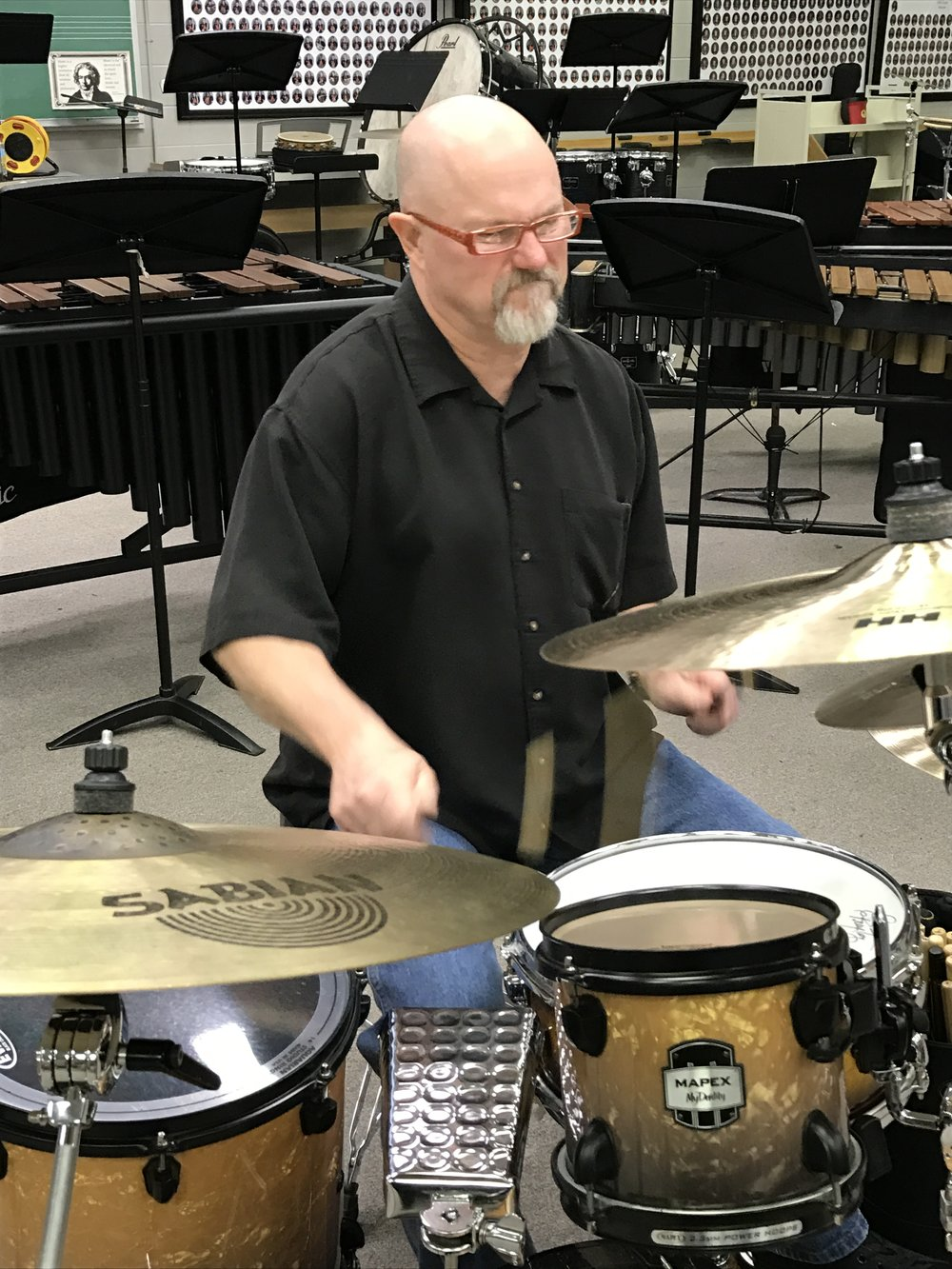 Warming up at the North Alabama Percussion Festival, 2017