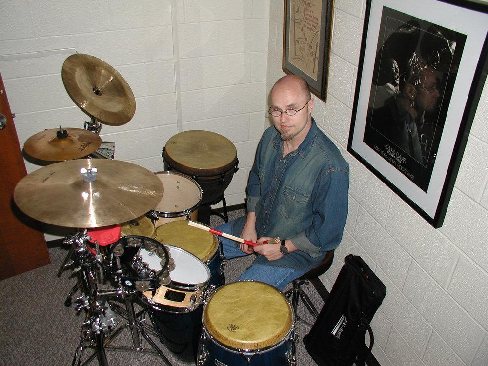 Percussion setup, 2004