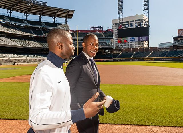 Major league talks with @cedricbobo walking through Sun Trust Park about building and building more. #projectdestined  Cc: @majorjus @jasonwaliprice