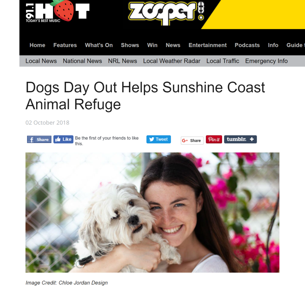 Dogs Day Out Helps Sunshine Coast Animal Refuge